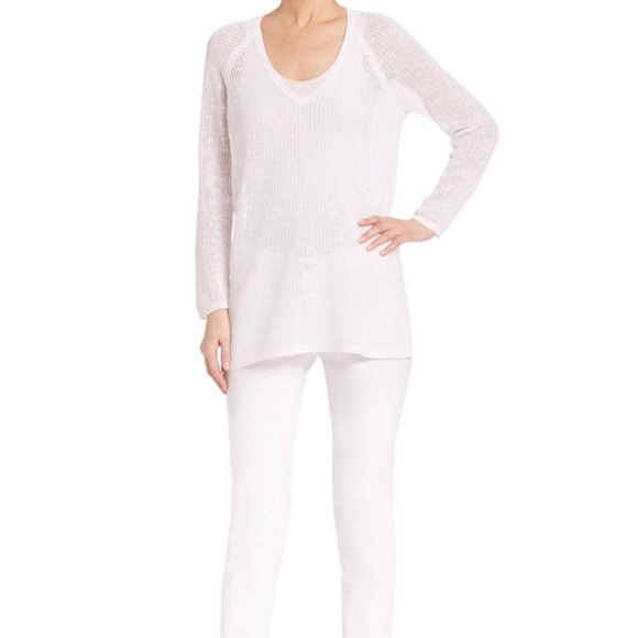 Eileen Fisher Sweaters - EILEEN FISHER ORGANIC COTTON AND LINEN V NEC TUNIC 3637931bf